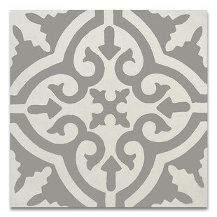 Argana 8 X Handmade Cement Tile In Gray And White
