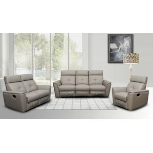 Noci Leather Configurable Living Room Set by Brady Furniture Industries