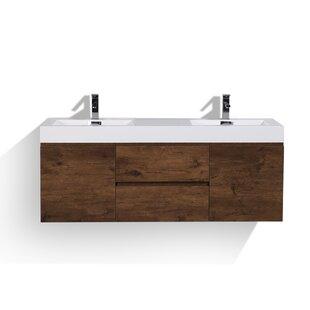 Sinope 59 Wall Mounted Double Bathroom Vanity Set