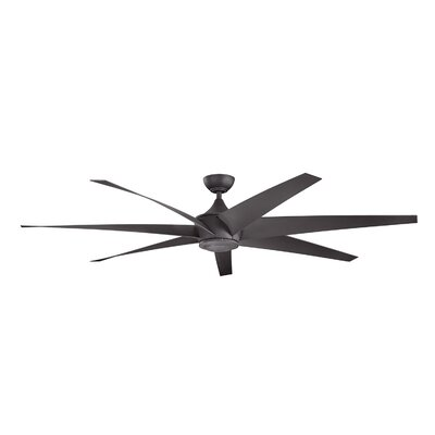 Brayden Studio 80 Bowling 7 Blade Outdoor Ceiling Fan Finish: Distressed Black