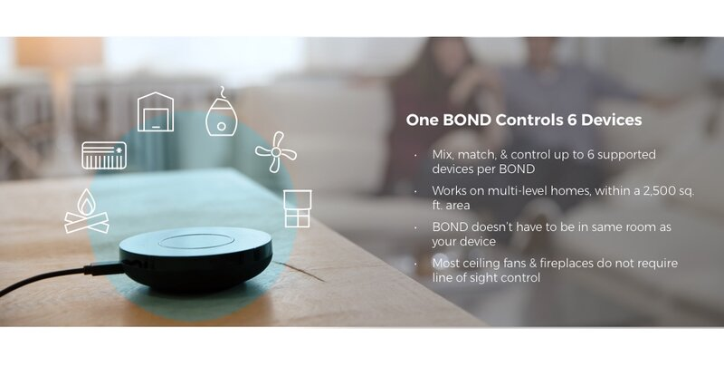 BD-1000 Bond Smart Home Ceiling Fan Control, Compatible with Google Home &  Amazon Alexa