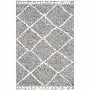 Read Reviews Cary Gray/White Area Rug By Bungalow Rose