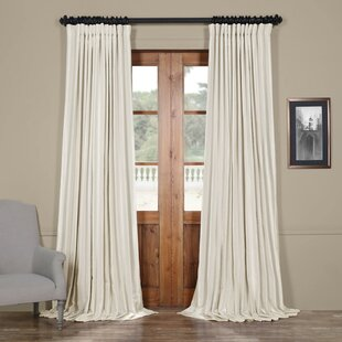 curtain double price linen velvet x silver pocket signature half blackout wide grey pole single width curtains drapes panel