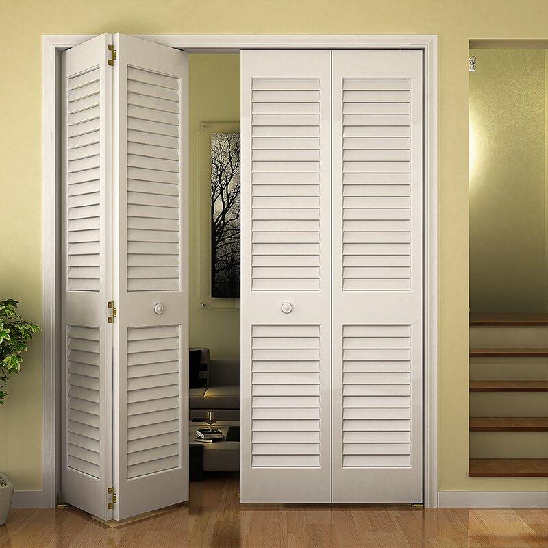 Sliding Louvered Wardrobe Doors Uk: Plantation Louvered Bifold Closet Doors