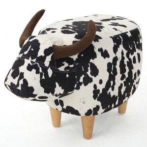 Albarado Cow Ottoman by Loon Peak