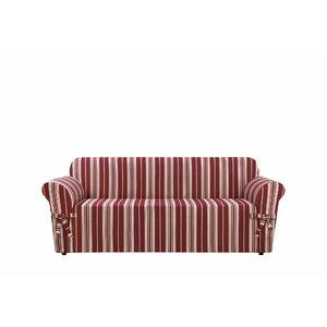 South Hampton Stripe Box Cushion Sofa Slipcover