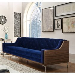Velvet Sofa chic home clark velvet sofa & reviews | wayfair