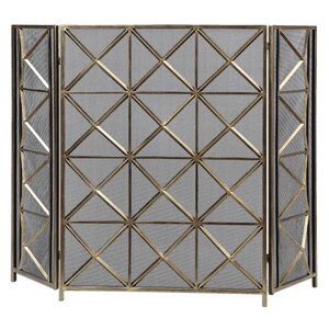 Akiva 3 Panel Metal Fireplace Screen