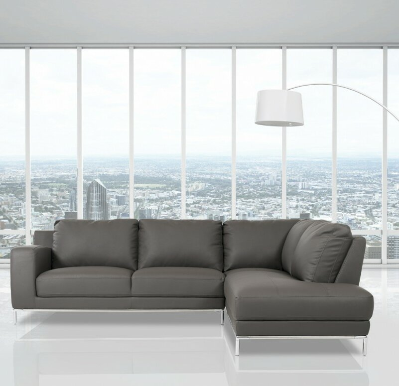 Alsatia Casa Primrose - Modern Eco-Leather Sectional Sofa : logan sectional sofa - Sectionals, Sofas & Couches