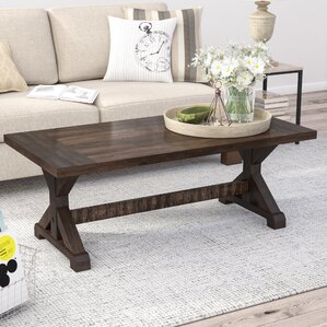 Guerande Trestle Coffee Table by Laurel Foundry Modern Farmhouse