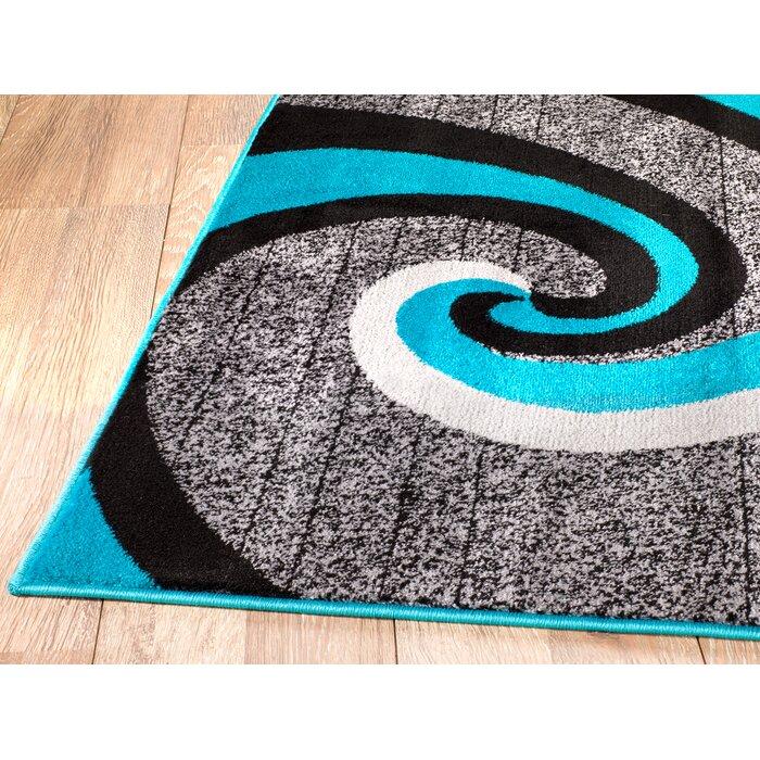Rick Grey Turquoise Indoor Area Rug