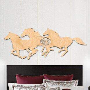Horse Herd 3 Letter Wooden Monogram Wall Decor