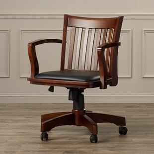 desk chair wood. Genevieve Mid-Back Deluxe Bankers Chair Desk Wood S