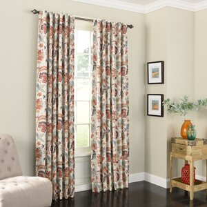 Jessamy Nature/Floral Max Blackout Rod Pocket Single Curtain Panel