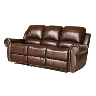 Barnsdale Genuine Leather Reclining Sofa