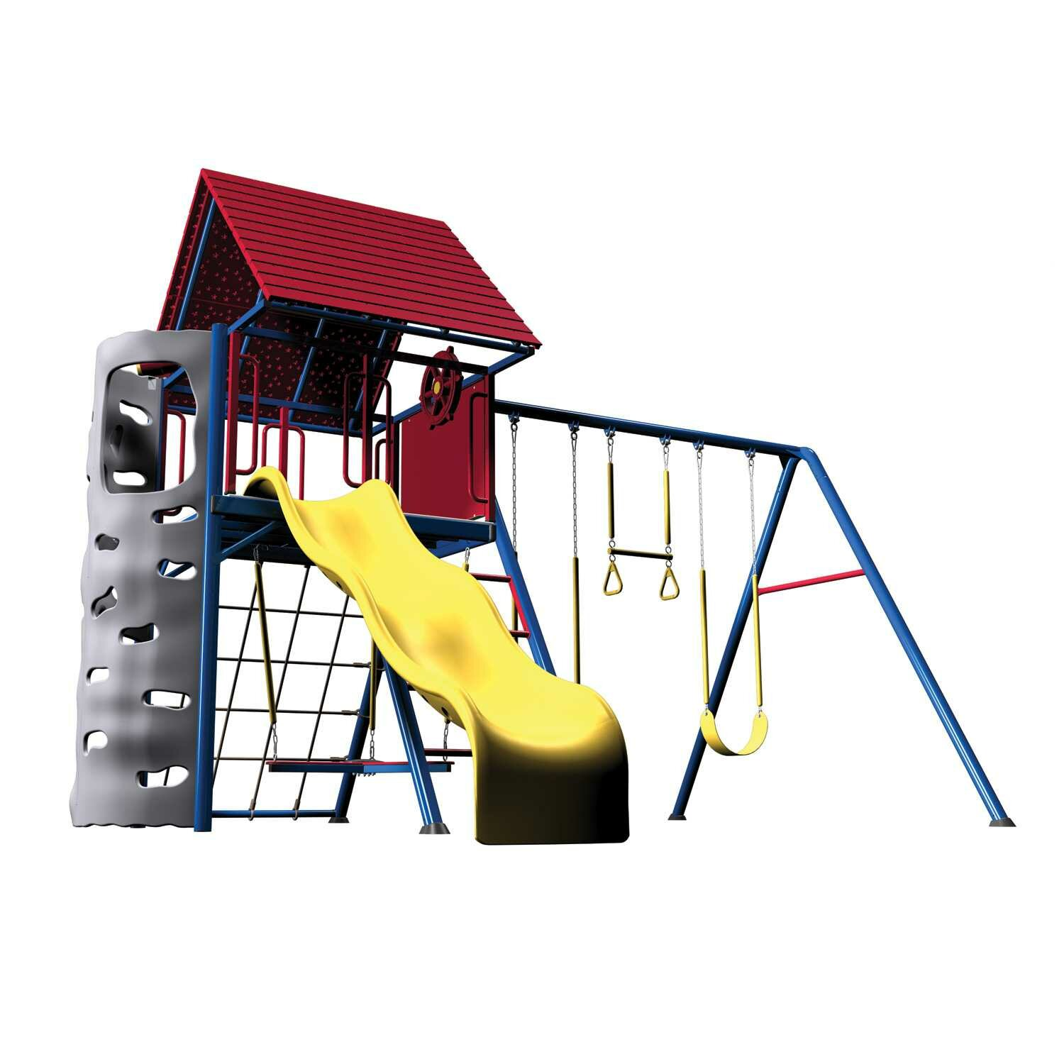 swingset watch primary sets playset epic duty heavy metal clubhouse lifetime swing with colors reviews youtube