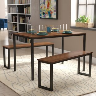 Walser 3 Piece Dining Table Set : dining table bench set - pezcame.com