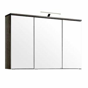 100 cm x 66 cm Spiegelschrank Mailand mit Beleu..