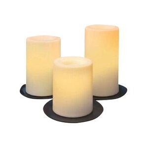 3 Piece Flameless Pillar Candle Set