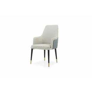 Josef Genuine Leather Upholstered Dining Chair