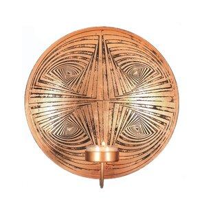 Geometric Circles Plate Iron Sconce