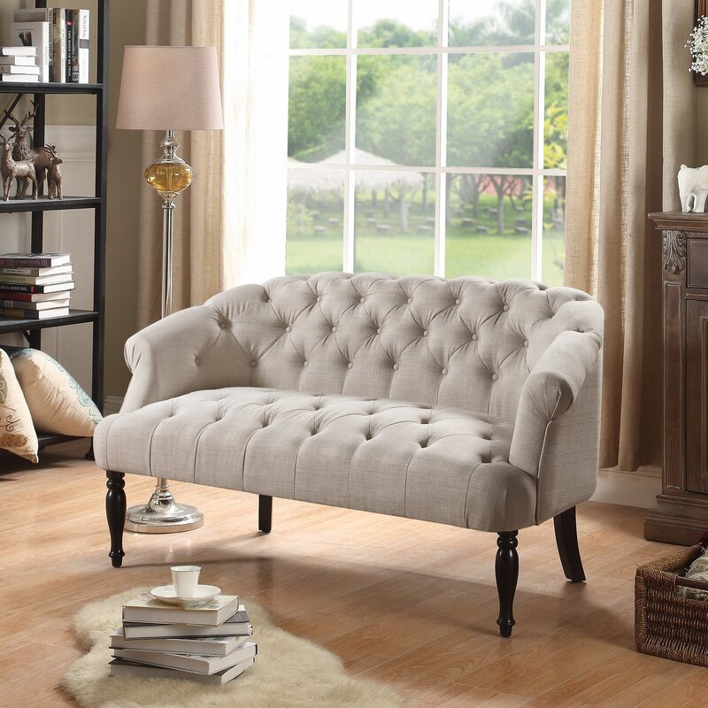 Garner Tufted Chesterfield Settee