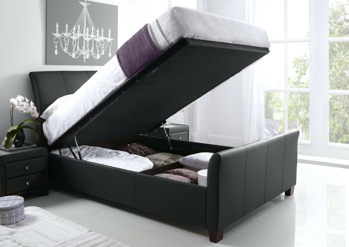 Wayfair Upholstered Bed Home Wayfair Upholstered Bed King: Home & Haus Upholstered Ottoman Bed Frame & Reviews