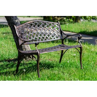 6929980165e Huang Lattice Metal Garden Bench