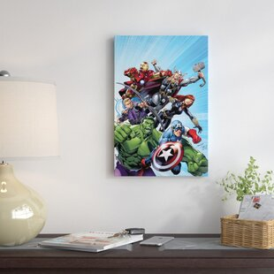 u0027Marvel Avengersu0027 by Marvel Comics Graphic Art on Wrapped Canvas & Marvel Avengers Wall Art | Wayfair