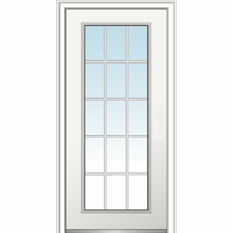 Smooth Fiberglass Prehung Front Entry Door