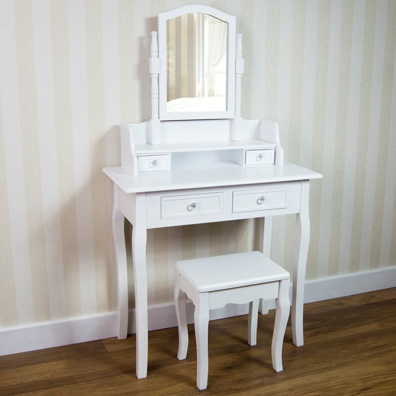 Fairmont Park Dressing Table Set with Mirror & Reviews | Wayfair.co.uk