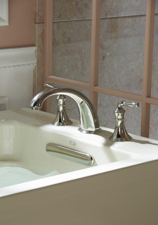 Bathroom Faucet Not Flowing kohler devonshire deck-/rim-mount bath faucet trim for high-flow