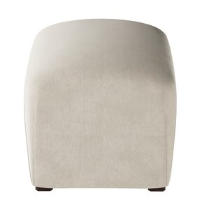 Recker Velvet Ottoman by Mercer41