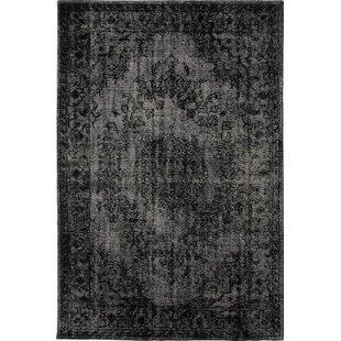 Gilles Handmade Kilim Wool Black Rug by World Menagerie
