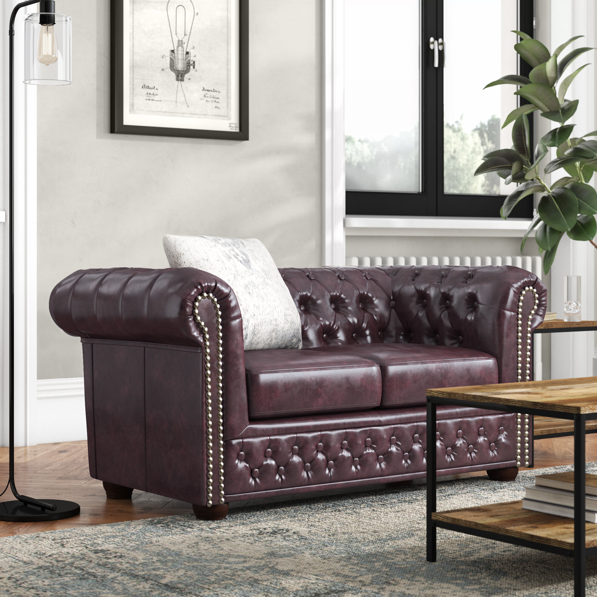 Prime Williston Forge Abtao 2 Seater Chesterfield Sofa Pabps2019 Chair Design Images Pabps2019Com