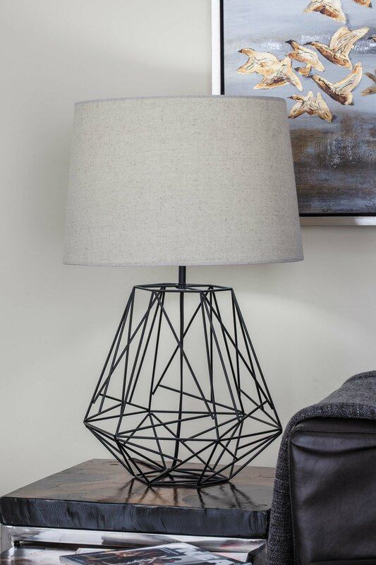 Cole grey metal wire 25 table lamp reviews wayfair metal wire 25 table lamp keyboard keysfo Choice Image
