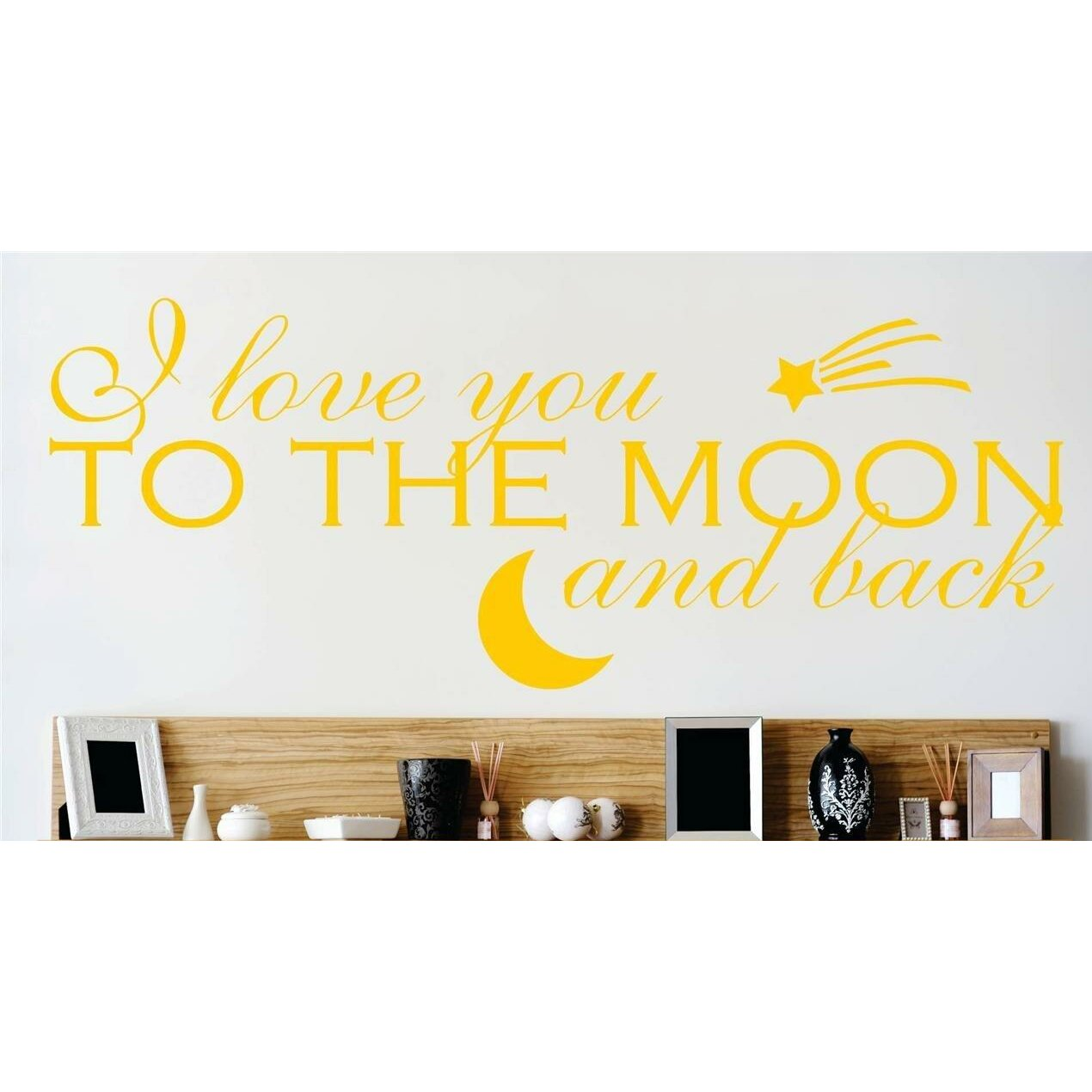 I Love You Quotes: Design With Vinyl I Love You To The Moon And Back Quote