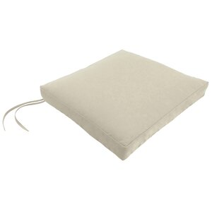Outdoor Square Dining Chair Cushion with Ties