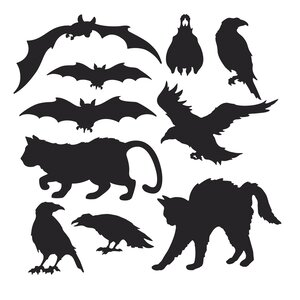 Halloween 10 Piece Silhouette Wall Du00e9cor Set