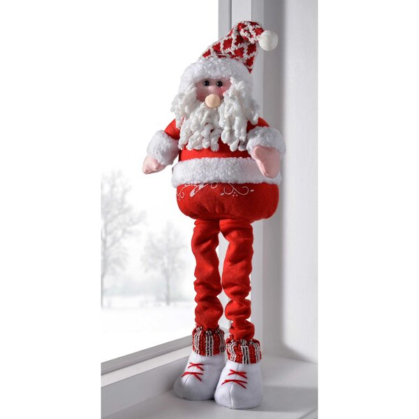 the seasonal aisle free standing christmas santa decoration with extendable legs wayfaircouk