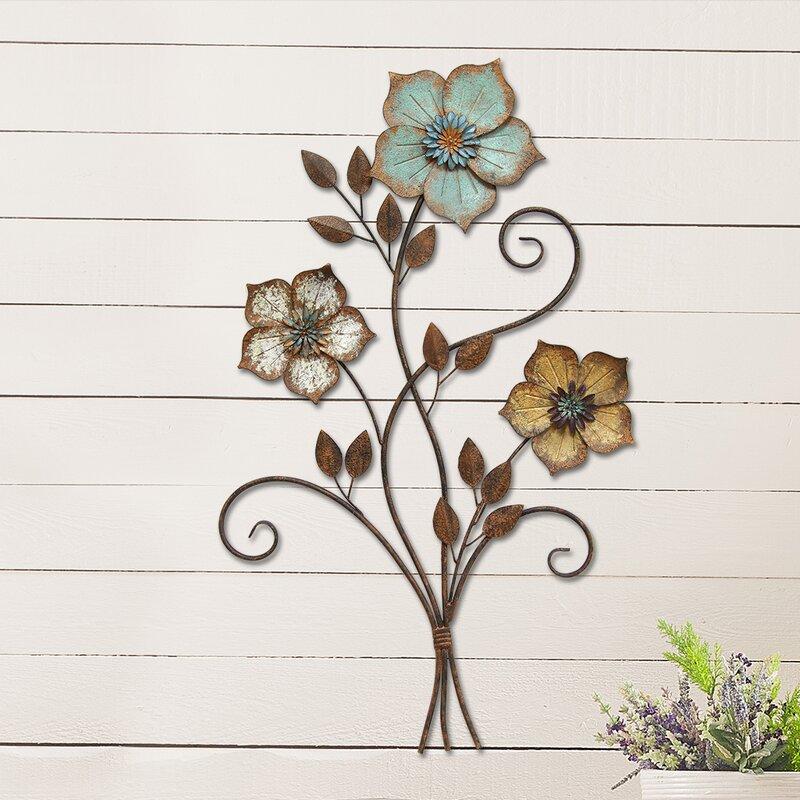 Elegant Tricolor Flower Wall Décor