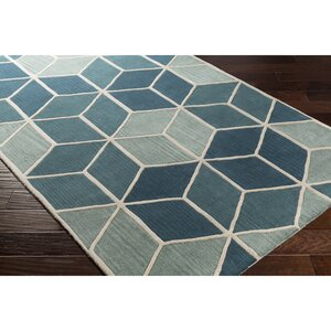 Vaughan Hand-Tufted Blue/Green Area Rug