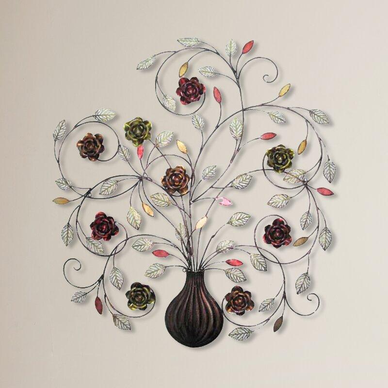 Alcott hill flowers metal wall décor reviews wayfair