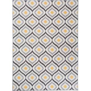 Walmsley Moroccan Gray/Yellow Area Rug