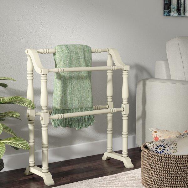 Red Barrel Studio Cottage White Wood Quilt Rack & Reviews