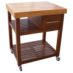 Deason Dining Essentials Kitchen Cart wit..