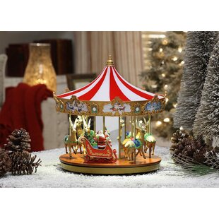 very merry carousel - Christmas Carousel Decoration