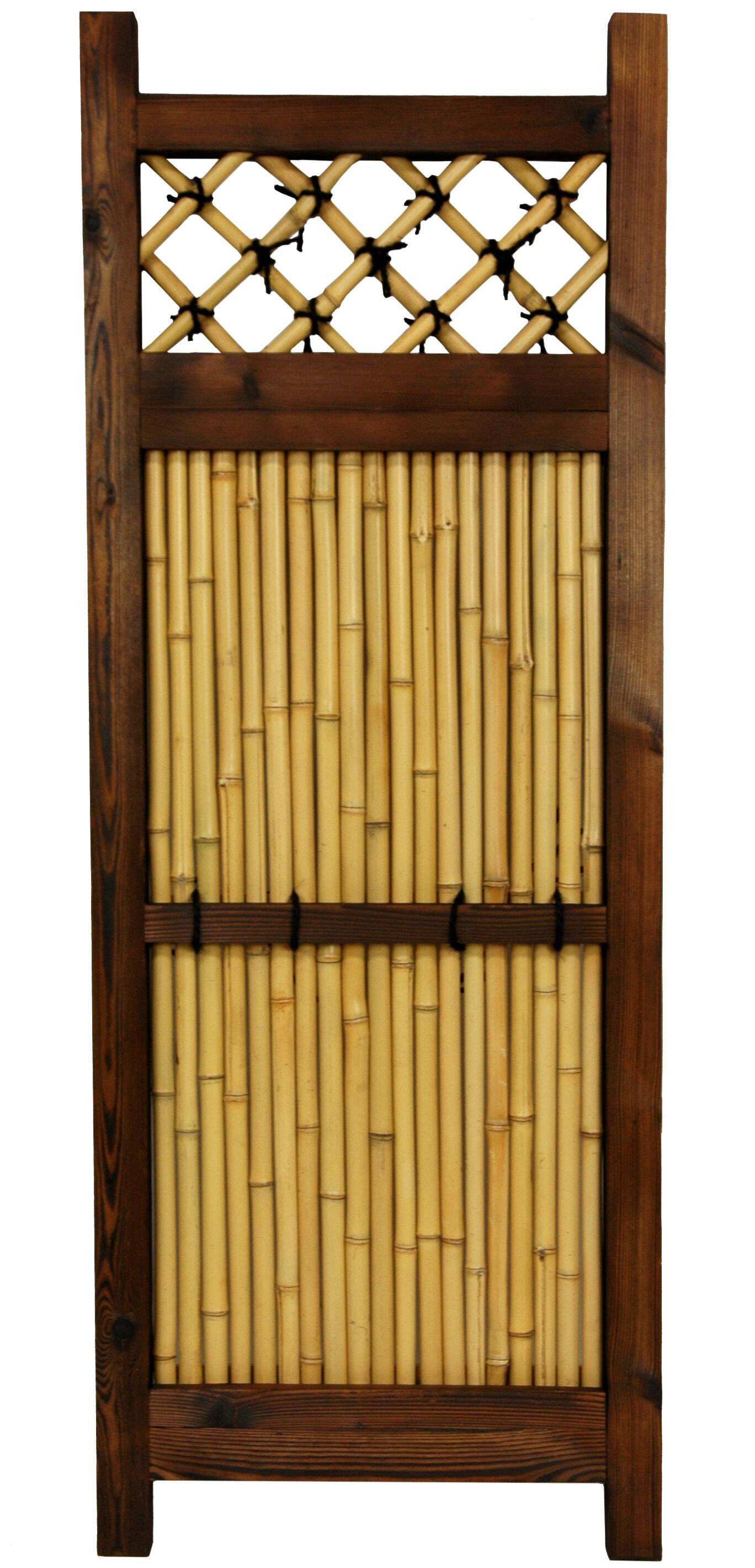 Oriental Furniture 4 ft. H x 1.5 ft. W Japanese Zen Garden Fence ...