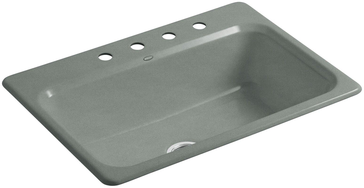 "Bathroom Sinks 31 X 22 kohler bakersfield 31"" x 22"" x 8-5/8"" top-mount single-bowl"