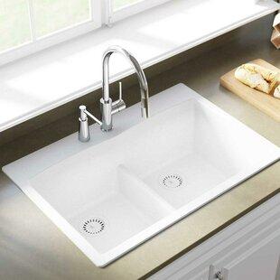 drop in kitchen sink quickview dropin kitchen sinks youll love wayfair